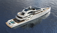 75m Motoryacht R & R with closed hatches
