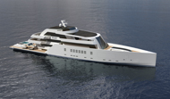 75m Motoryacht R & R side view - open