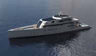 75m Motoryacht R & R side view - closed
