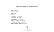 49m MY Specification